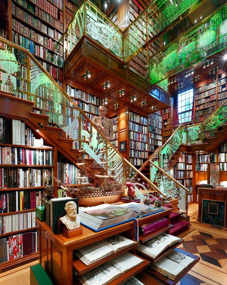 One Of The Biggest And Richest Private Libraries In World Home Libraries Dream Library Beautiful Library