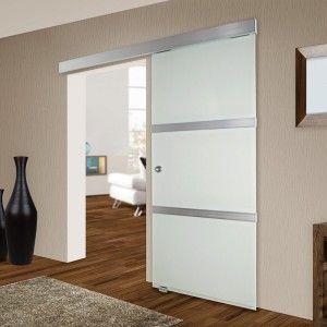 Tectake puerta corrediza de cristal deslizante vidrio for Puertas correderas empotradas precio