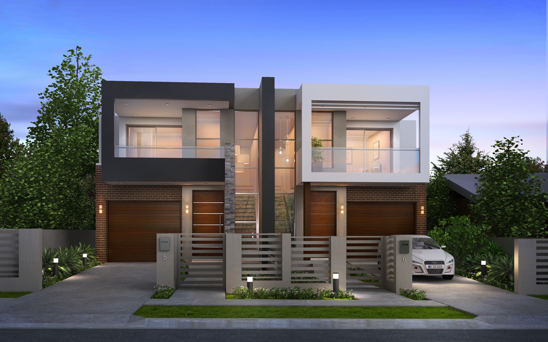 Wp content gallery home portfolio 3 for Modern duplex house plans in nigeria