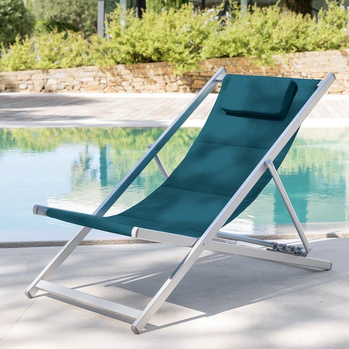 Chilienne De Jardin Honolulu Bleu Canard En 2020 Chaise Longue Pliante Hamac Balancelle Mobilier De Jardin Design