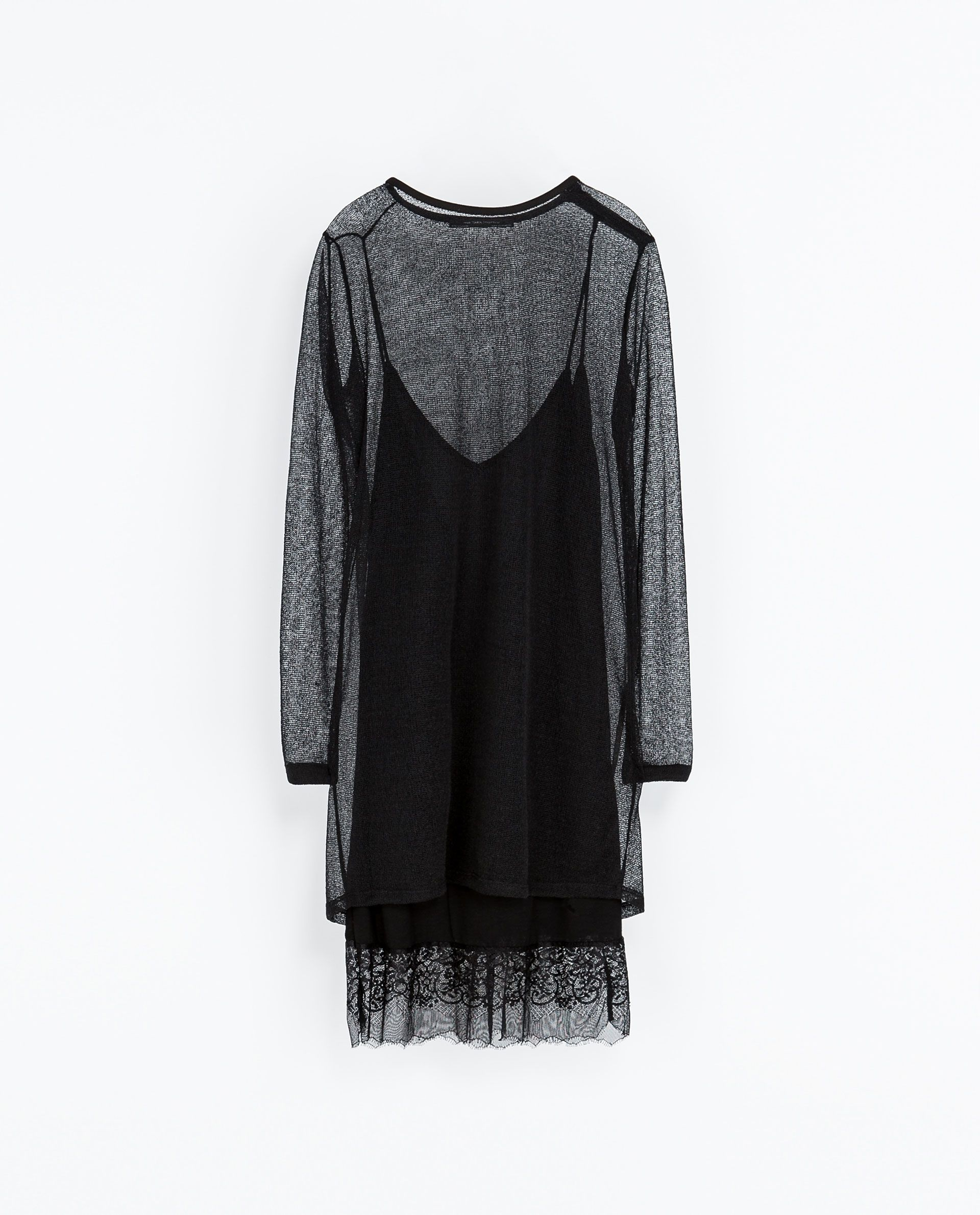 ZARA - WOMAN - DOUBLE LAYER LINGERIE STYLE AND MESH DRESS | CLOTHES ...