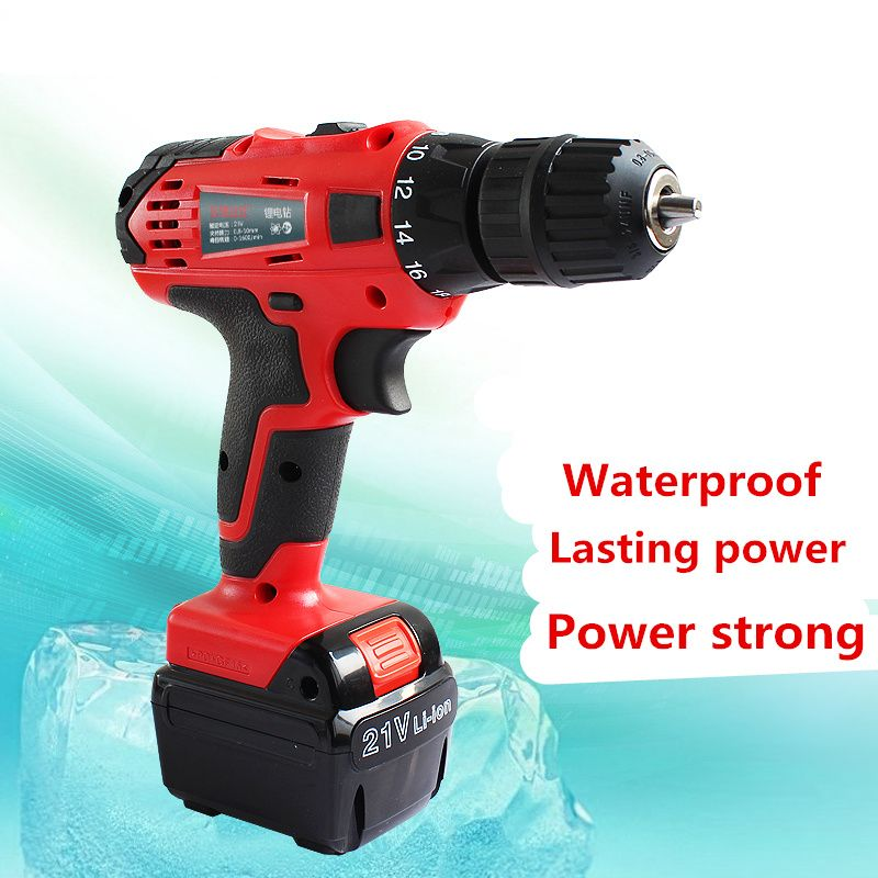 Hello21v Electric Drill Household Multi Function Electric Screwdriver Double Speed Lithium Cordless Drill Power Tools21v Electric Drill Household M