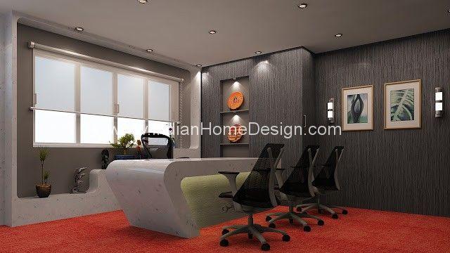 Corporate Office Interior design ideas 3D View - Amethi Architecture ...