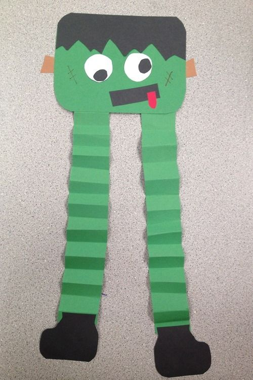 Frankenstein Halloween Art Lesson Special Education 1st Grade A focus on fine motor skills