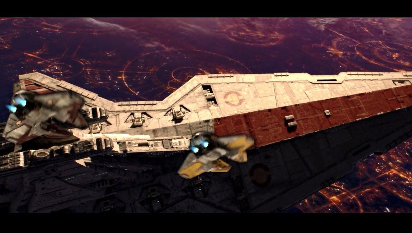 Opening Scene Revenge Of The Sith 1080p Hd Star Wars Sith A New Hope