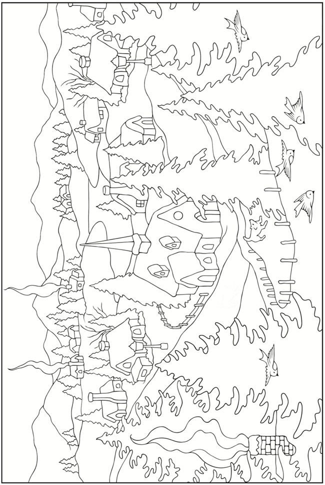Creative Haven Winter Scenes Coloring Book Welcome To Dover Publications