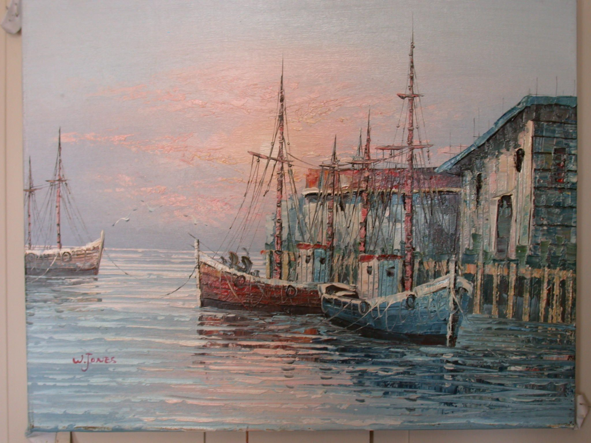 Paintings of fishing boats in the harbor art community for Fishing boat painting