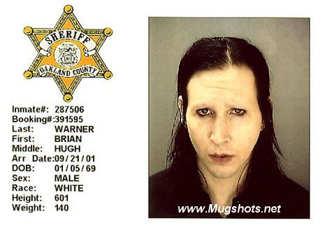 Marilyn Manson With Out Make Up Haha His Real Name Is Brian