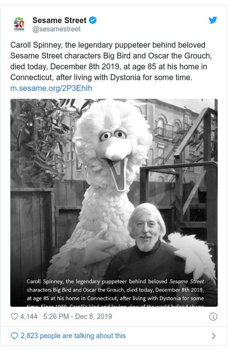 Sesame Street Puppeteer Caroll Spinney Dies Childhood
