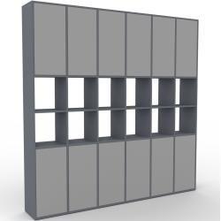 Photo of Regalsystem Anthrazit – Flexibles Regalsystem: Türen in Grau – Hochwertige Materialien – 233 x 233 x