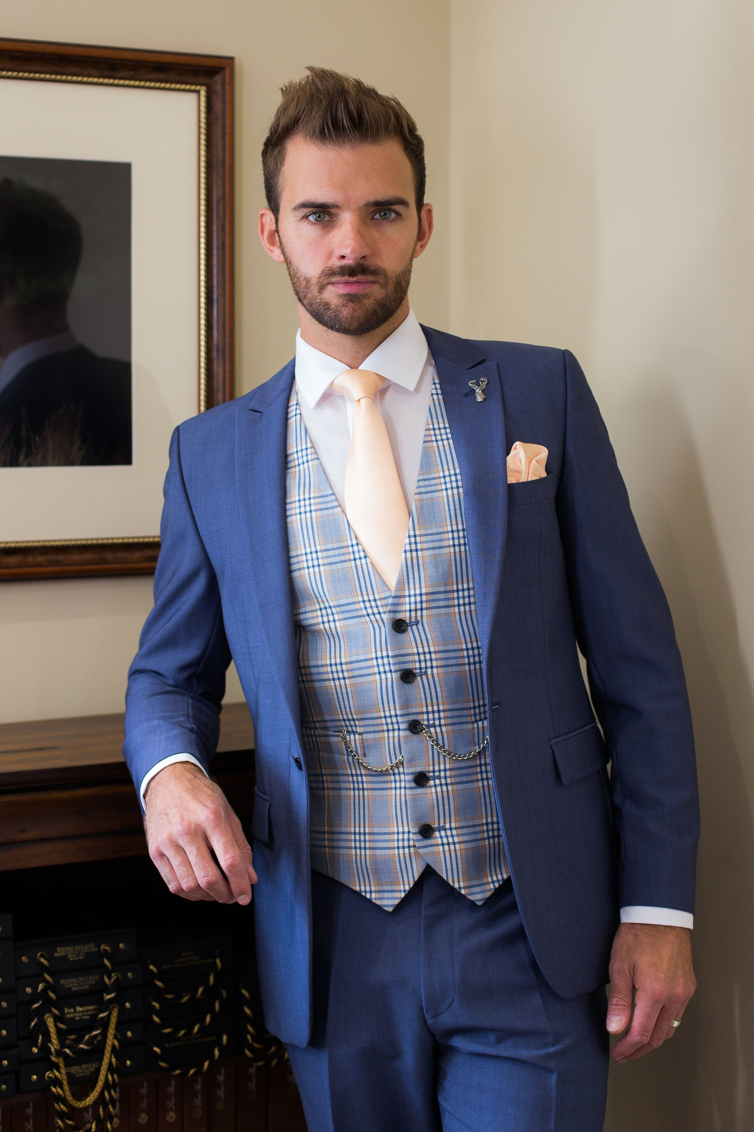 Our Highgrove Lounge Suit In Airforce Is The Perfect Choice For A