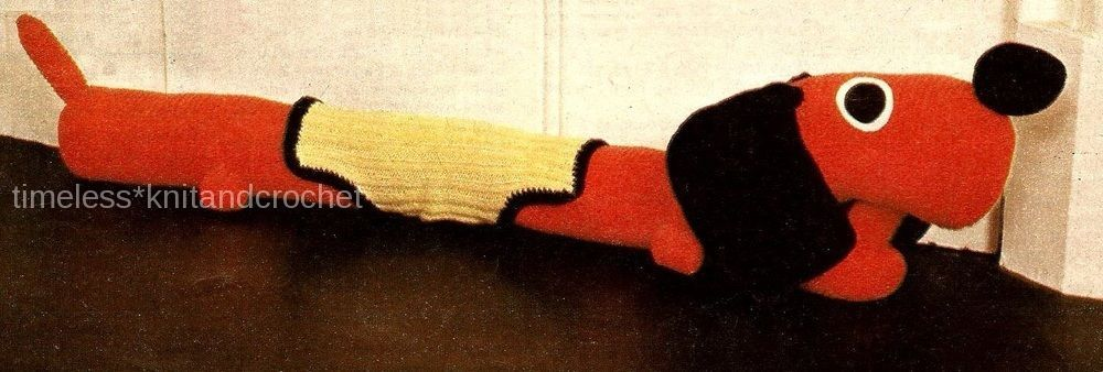 Knitting Pattern For A Dog Draught Excluder Toy Instructions To