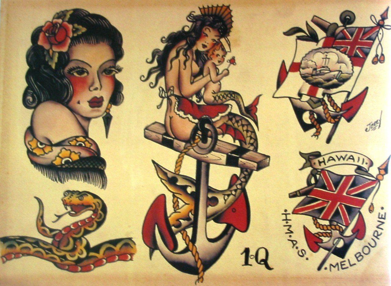 Sailor Jerry Tattoo Flash Volume 1 53 photos VK (With