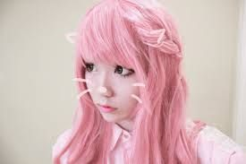 Image Result For Kawaii Korean Pink Haired Girl Pastel Goth Hair Kawaii Hairstyles Girl With Pink Hair