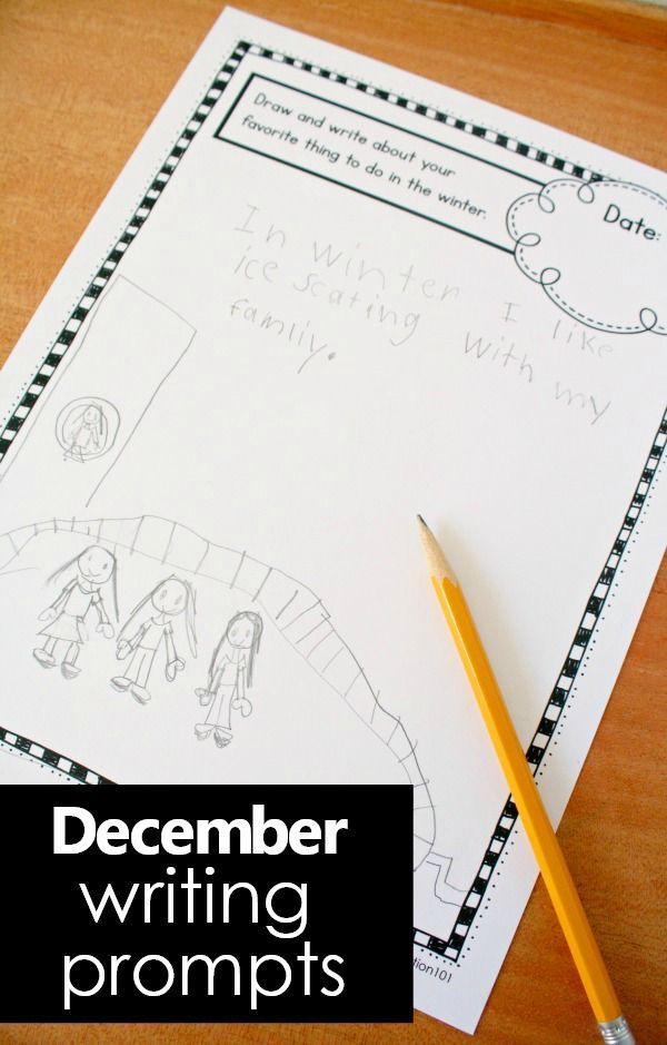 December Writing Journal Prompts for Kids   Literacy Activities for ...