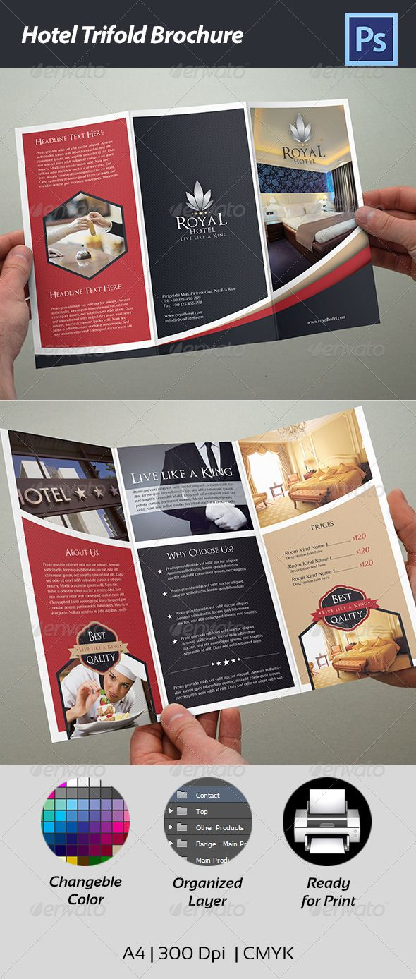 Hotel Trifold Brochure | Brochures, Corporate brochure and ...