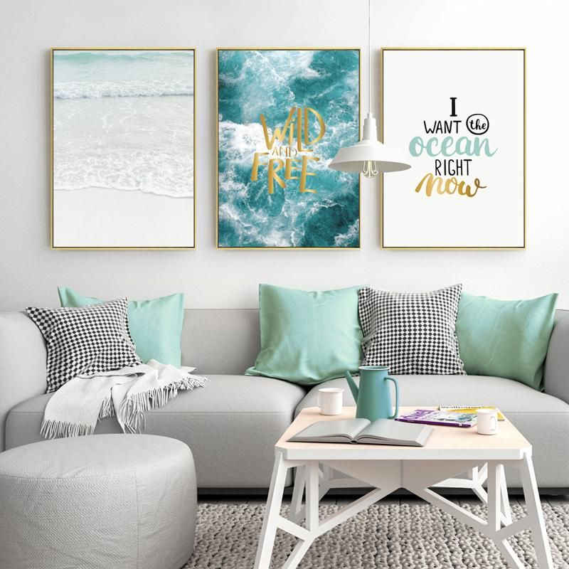 Wall Art Canvas Painting Seascape Posters And Prints Cuadros ...