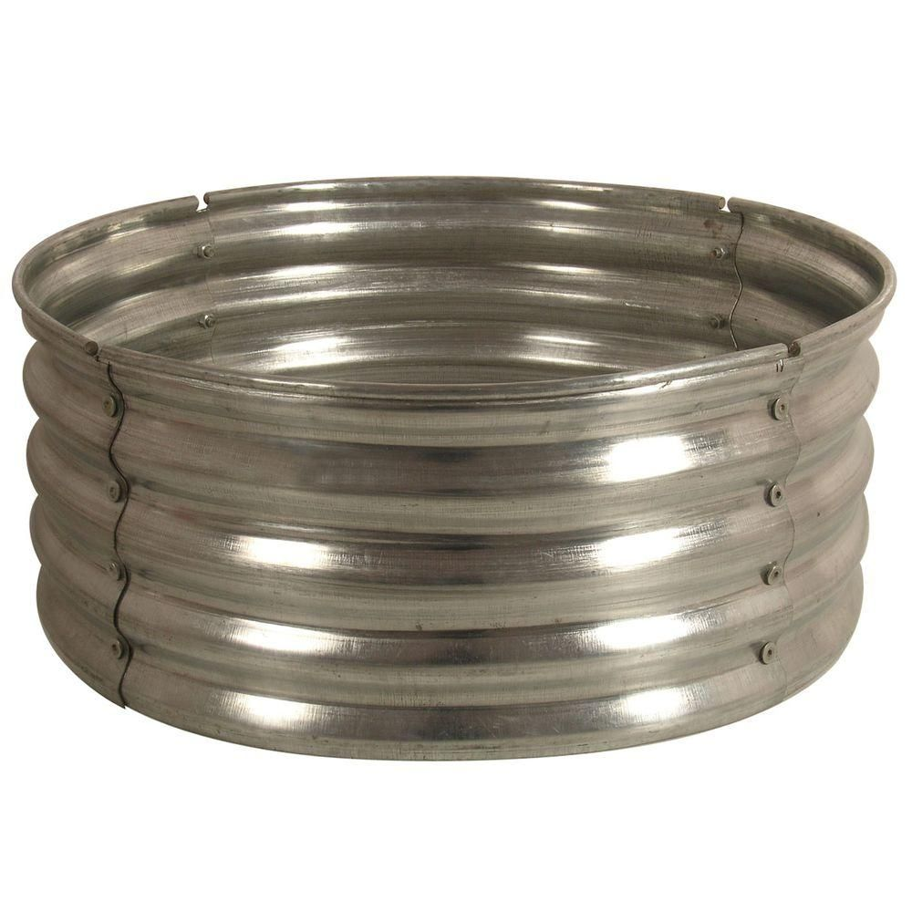 30 In Round Galvanized Steel Fire Pit Ring Ds 18727 Steel Fire