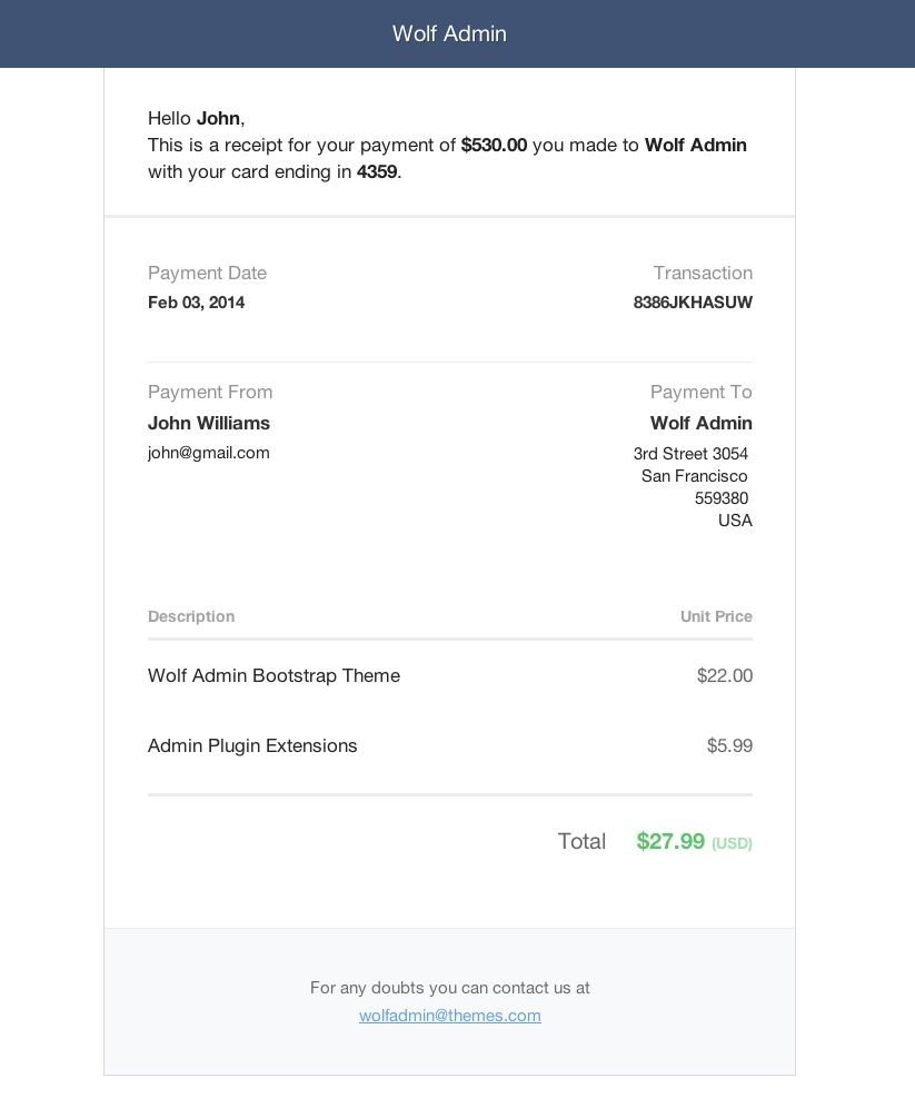 The Inspiring Invoice Template Bootstrap Invoice Example Regarding Invoice Email Template Html Invoice Template Invoice Example Email Templates