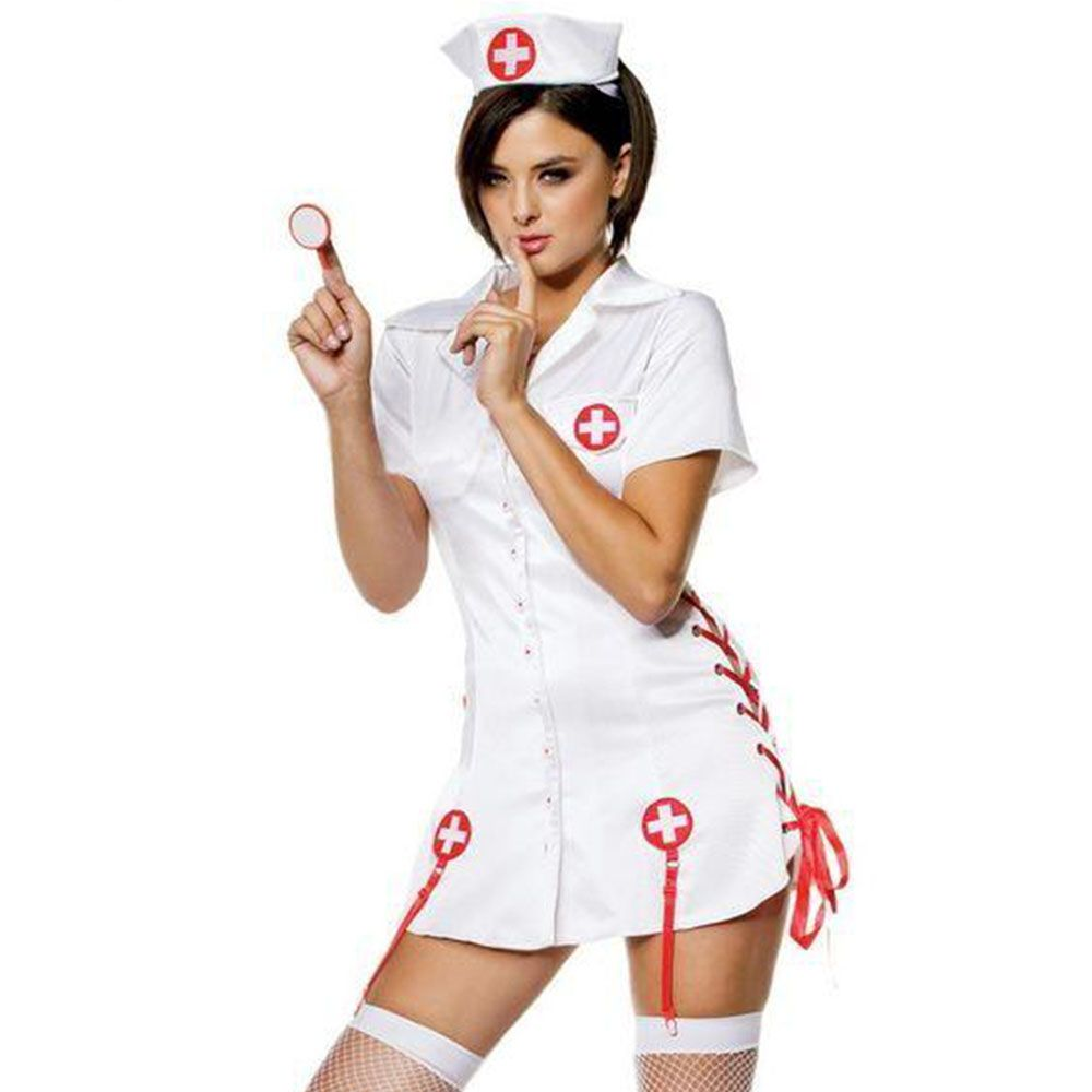 Nurses White Mini Dress