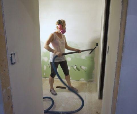 Waterproof Shower Wall Board Installation Sawdust Girl Woodworking Plans Jack And Jill Bathroom
