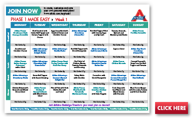 atkins diet meal plan sample menu