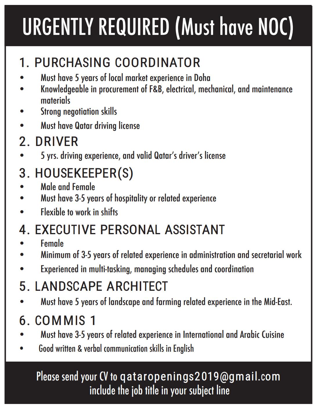 Multiple Job Openings Qatar Job opening, Negotiation