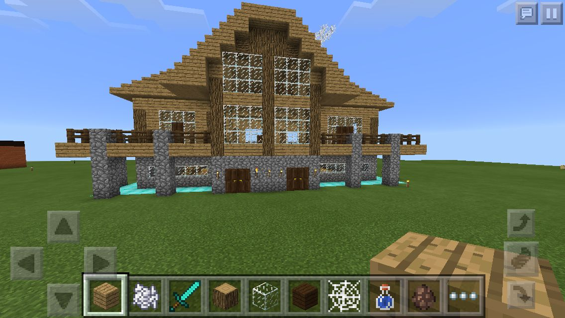 This Is A Birch Wood House I Built I Learned How To Build It Out
