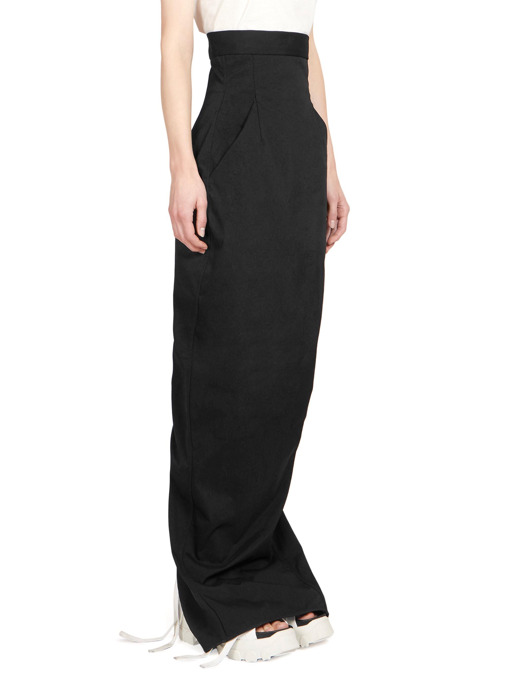 f7c6a9b38e Dirt Pillar High Waist Maxi Skirt by Rick Owens | Fashion Forward ...