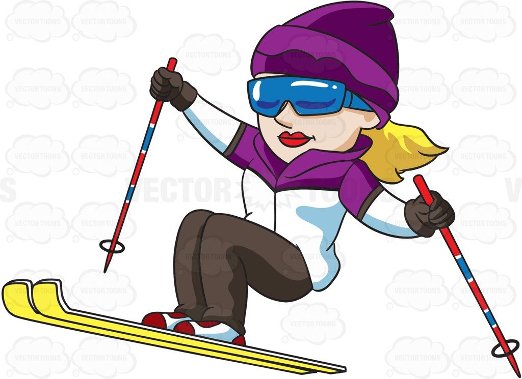a female skier jumping up the trail rh pinterest com skier clip art solhouette skier clipart free