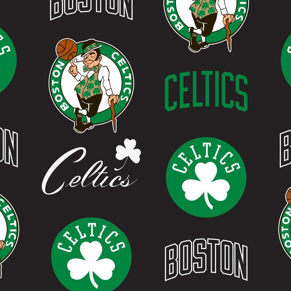 Boston Celtics Nba Licensed Fleece Fabric Boston Celtics Boston Celtics Wallpaper Boston Celtics Logo