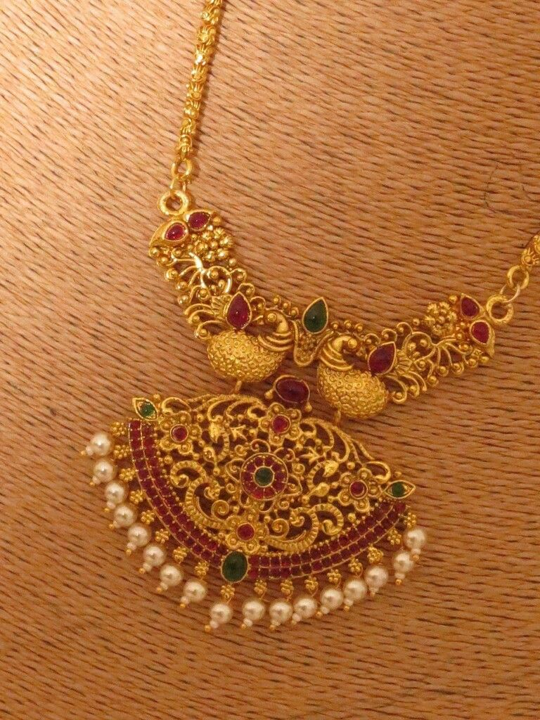 Pin by Ambika krish T on jewels | Gold temple jewellery