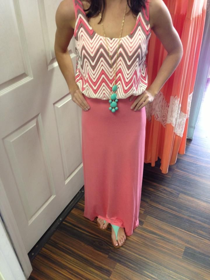 Chevron top maxi $48