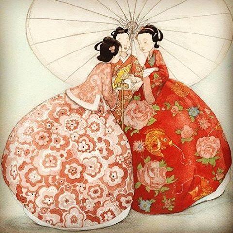 Quentin Greban Illustration Illustrator Quentingreban Watercolor Watercolour Japan Vintagejapanese Japan Vintage Illustration Illustration Oriental Art