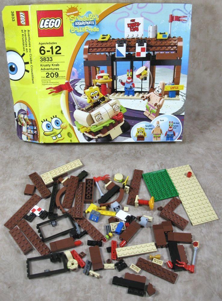 Lego 3833 Spongebob Squarepants Krusty Krab Adventures Set For Parts