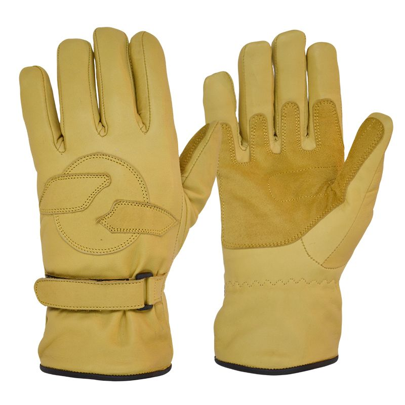 Fleece Lined Cruiser Gloves Tan Goldtop England Known And Recommended Everywhere Leather Motorcycle Gloves Motorcycle Riding Gloves Gloves