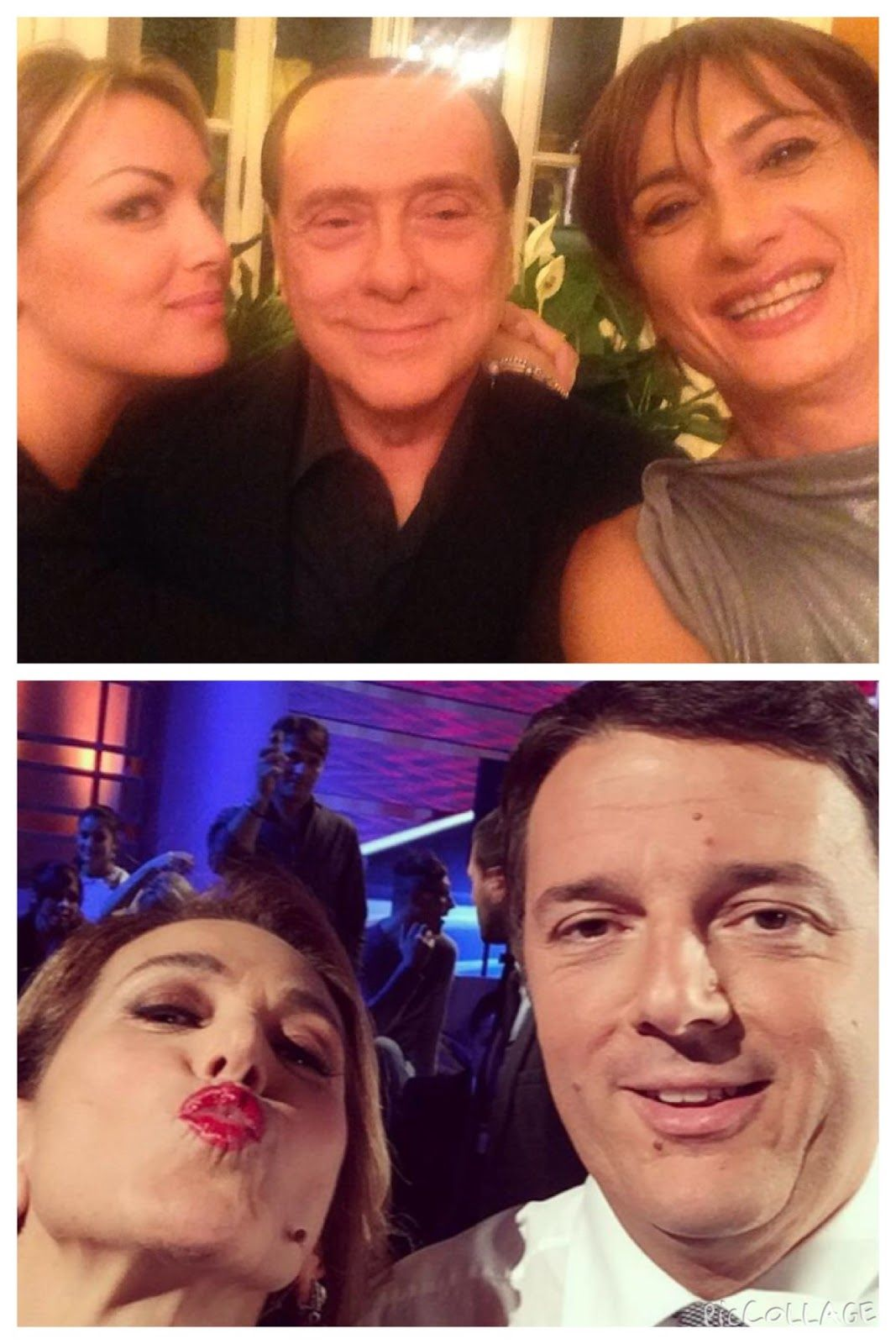 http://4.bp.blogspot.com/-7DiEUcznkx8/VETprCaE9xI/AAAAAAAAr7s/Hm2am8ZPvRw/s1600/Foto%2B20-10-14%2B12%2B49%2B32.jpg Al selfie di Vladimir Luxuria con Silvio Berlusconi e Francesco Pascale, il premier Matteo Renzi risponde selfandosi da Barbara D'Urso.