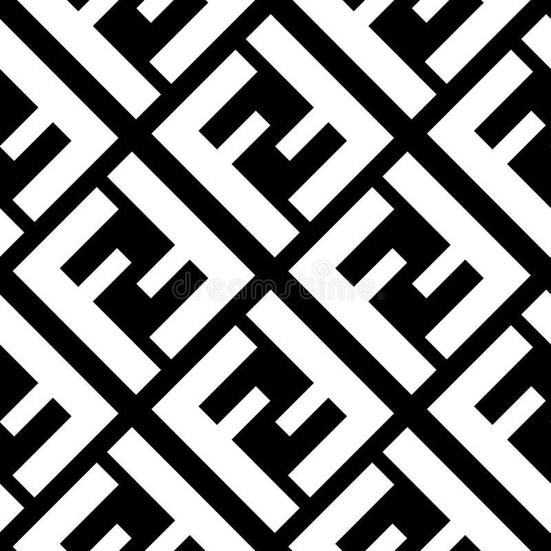 Seamless Pattern With Fendi Logo Design For Fabric Textile On Black Background Royalty Free Illustration Monogram Wallpaper Fashion Logo Branding Fendi