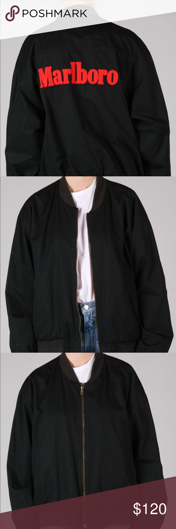 Vintage Marlboro Reversible Bomber Jacket Bomber Jacket Vintage Jacket Jackets