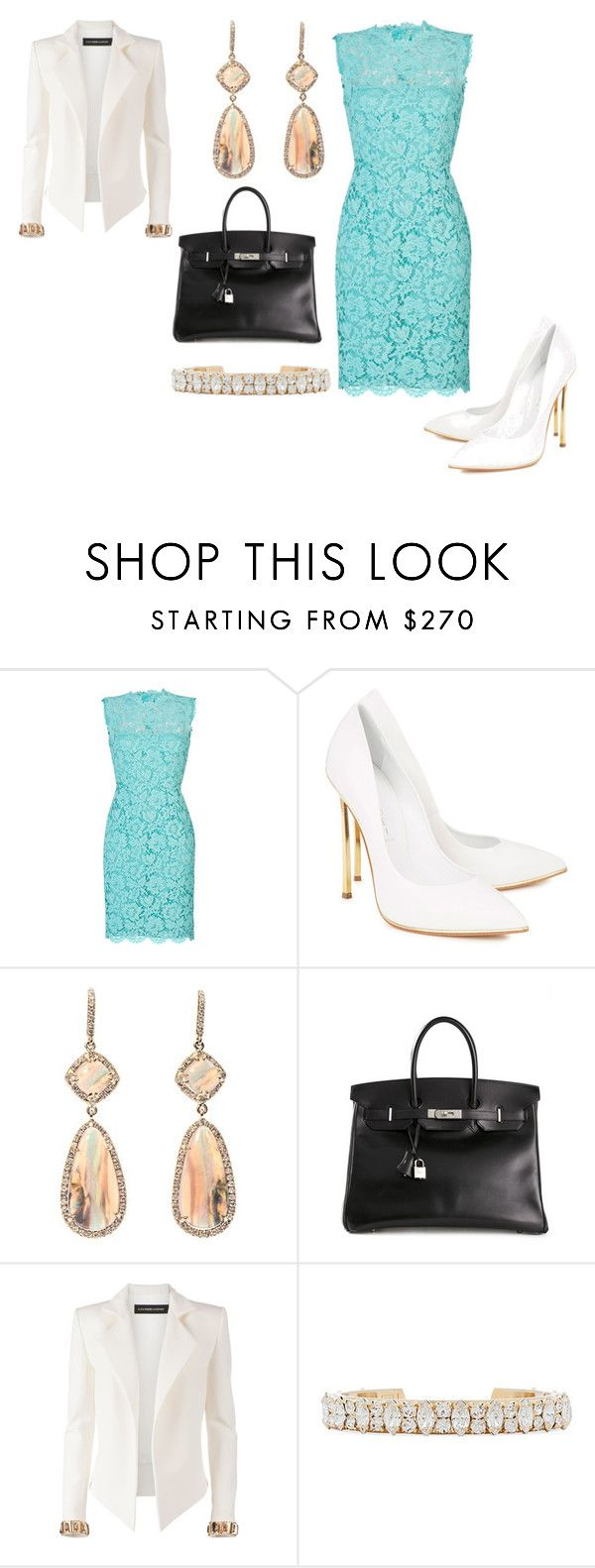 """""""Untitled #24586"""" by edasn12 ❤ liked on Polyvore featuring Valentino, Casadei, NSR Nina Runsdorf, Hermès, Alexandre Vauthier and DANNIJO"""