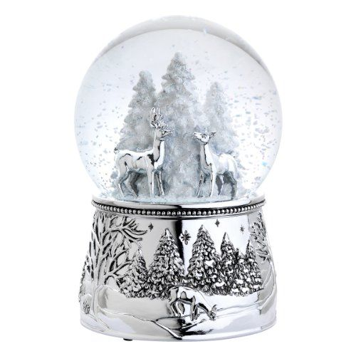 Reed & Barton 4065 Alpine Forest Snow Globe, 6-Inch, Plays Silent Night Reed…