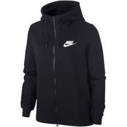 Nike Damen Sweatjacke Optic Fleece, Größe Xl in Black/white, Größe Xl in Black/white Nike