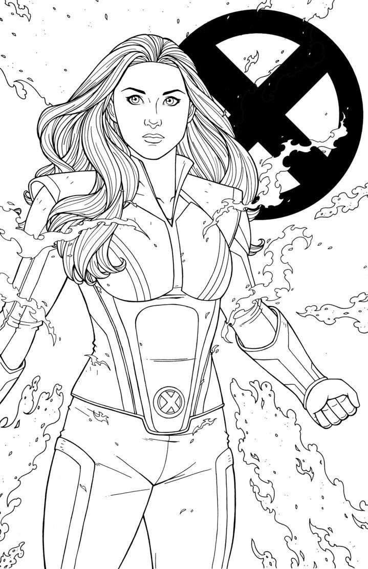 Jean Grey By Jamiefayx Deviantart Com On Deviantart Marvel Coloring Jean Grey Avengers Coloring Pages