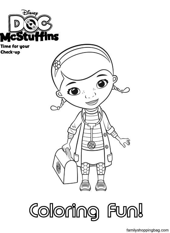 Doc mcstuffins coloring page | Compassion gift ideas | Pinterest ...