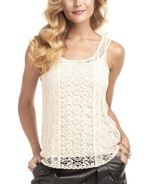 Another great find on #zulily! Nude Crochet Lace Cozumel Sleeveless Top by TART Collections #zulilyfinds