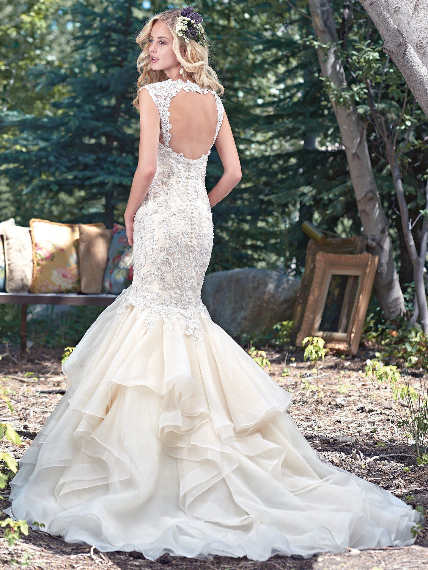 Back view of maggie sottero
