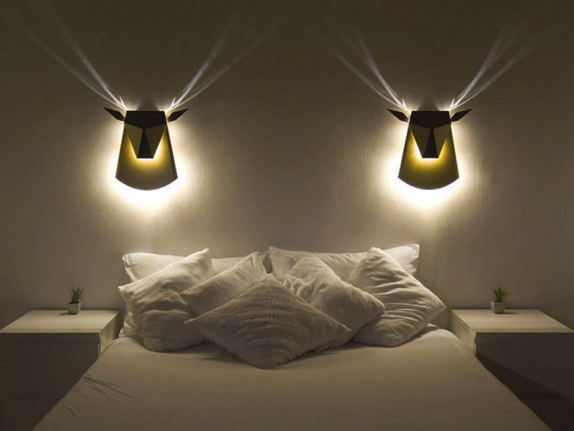 Deer Shaped Wall Lamp Adds Golden Ambiance To Your Home Bedroom