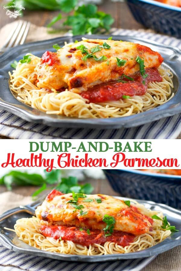 Dump-and-Bake Healthy Chicken Parmesan {+ a Video!}
