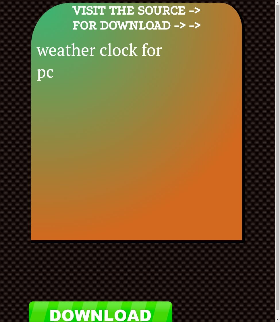 weather clock for pc【2020】