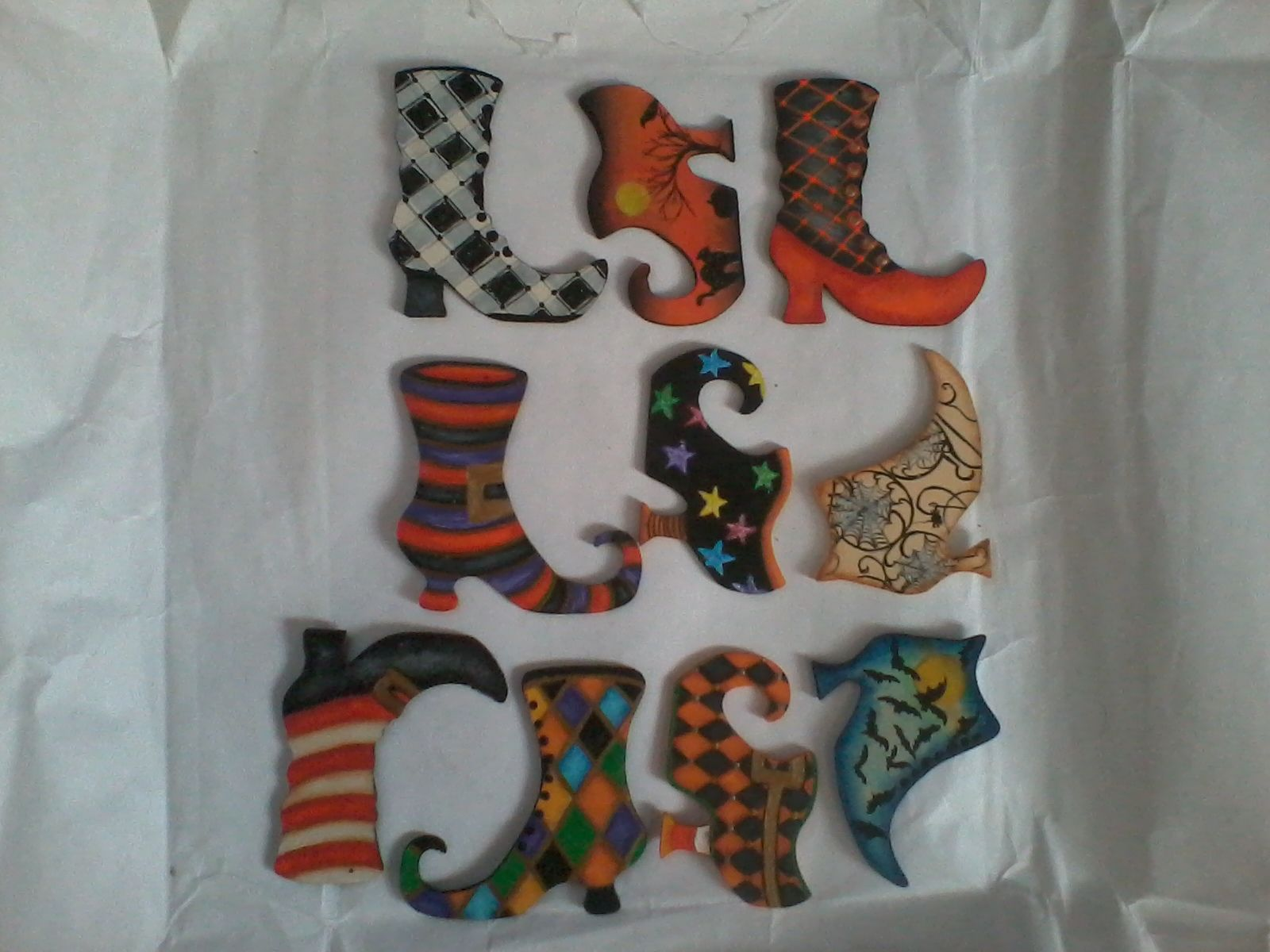 witches u0027 boots ornaments for halloween things i u0027ve made done
